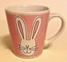 Rabbit Face Porcelain Mug Pink & White 8oz