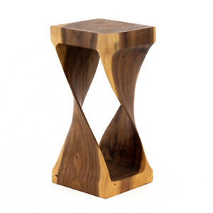 Infinity square solid wood cube side table lamp table stool wood coffee table