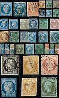 Lot de plusieurs timbres. Années 1849 à 1899.