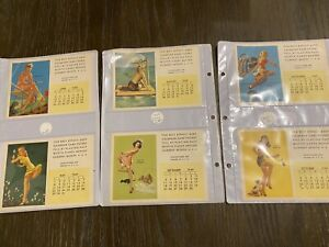 1949 Vintage Pocket Calendar Pin Up Cards