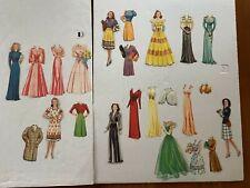 1943 Hour Of Charm Paper Dolls.# 2481 Saalfield cut used original