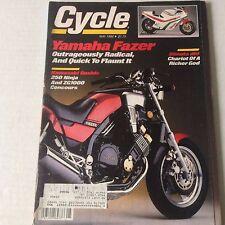 Cycle Magazine Yamaha Fazer 250 Ninja ZG1000 May 1986 061717nonrh2