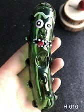 Pickle Rick Glass Smoking Pipe Glass Pipe Rick Morty glass Smoking bowl hookah 1