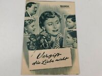 Progress Filmillustrierte E. German Movie Program Vergiss Die Liebe Nicht 1953