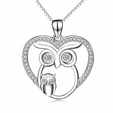 925 Sterling Silver CZ Crystal Pendant Necklace