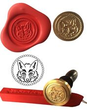 Wax Stamp, FOX HEAD Wildlife Coin Seal and Red Wax Stick XWSC196-KIT