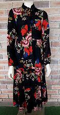Vintage Style Boho Floral Long Sleeve Maxi Dress ~ NWT ~ SIZE 8