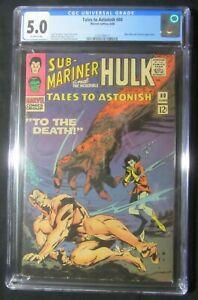 Tales to Astonish #80 (1966) CGC 5.0..Sub-Mariner & Hulk...Mole Man/Tyrannus app