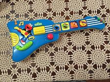 "16"" Sesame Street Elmo Toy Guitar, 1998 Vintage Rare, Talks & Plays Music"