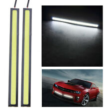 2x White 12V LED Strip DRL Daytime Running Lights Fog COB Car Lamp Waterproof