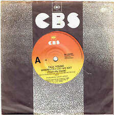 """PAUL YOUNG - WHEREVER I LAY MY HAT (THAT'S MY HOME)  - 7"""" 45 VINYL RECORD - 1983"""