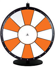 36 Inch Orange and White Portable Dry Erase Spinning Prize Wheel