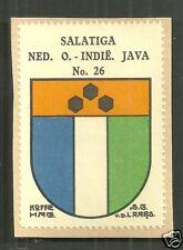 Salatiga Coat of Arms Java Indonesia ca 1925