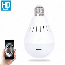 Bulb Light Wireless IP Camera Wifi FishEye 960P 360 degree Mini CCTV Security
