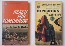 RARE! 2 Arthur C. Clarke Paperbacks EXPEDITION TO EARTH & REACH FOR TOMORROW