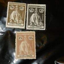 Sao Tome e Principe - 1914 - 1/4, 1/2 & 1 1/2 cents - Portuguese Republic