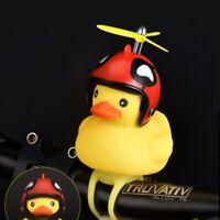Car Mini Yellow Duck Shape Broken Wind Duck Rotating Bamboo Raft Bike Horn Bell*