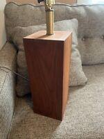 """LAMP RARE MCM Danish Solid Mahogany/teak/Wood Laurel Stunning 30"""""""