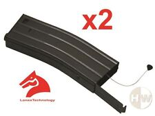 AIRSOFT M4 SERIES METAL BLACK LONEX FLASH MAGAZINE MAG 360RDS ASG x2 PULL CORD