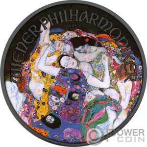 VIRGIN Gustav Klimt 1 Oz Silber Münze 1.5€ Austria 2021
