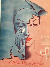 1944 Kathleen Mary Quinlan discover your true beauty cosmetic Karin art ad