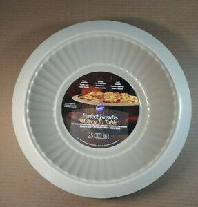WILTON PERFECT RESULTS OVEN TO TABLE 2.5 QUART ROUND BAKER NONSTICK PAN NEW