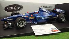 F1  PROST AP02 PEUGEOT # 18 O. PANIS 1/18 MINICHAMPS 180990018 voiture formule 1