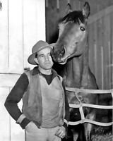 Champion Racehorse SEABISCUIT & Jockey GEORGE WOOLF Glossy 8x10 Photo Poster