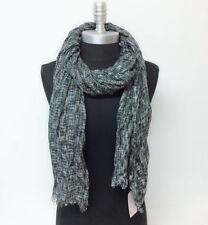 Long Soft Knit Fashion Scarf Wrap Shawl w/ frayed edge Cozy UNISEX, Ink grey#o4p