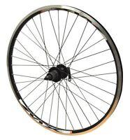 "26"" REAR Bike Wheel Mach MX Black Eyeletted Rim Joytech Disc Cassette Freehub"