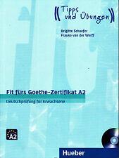 Hueber FIT FURS GOETHE-ZERTIFIKAT A2 Deutschprufung fur Erwachsene + CD NEW 2016