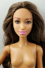 New Just Deboxed Nude Barbie Doll Articulated Jointed Brown Black Hair