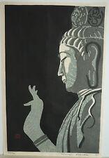 RARE RYUJI KOSAKA WOODBLOCK PRINT FROM BLUE STONE SERIES - 1963