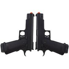 New listing 2 x UKARMS M1911 FULL SIZE SPRING AIRSOFT HAND GUN PISTOL 6mm BBs BB Black