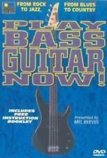 PLAY BASS GUITAR NOW DVD MEL REEVES ROCK BLUES JAZZ COUNTRY BEGINNER ALL REGIONS
