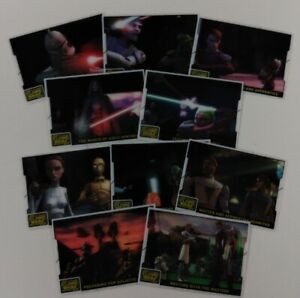 STAR WARS THE CLONE WARS Animation Cel Set of 10                    / 2008 Topps