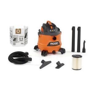 RIDGID Wet Dry Shop Vacuum Cleaner 120-Volt Detachable Canister Hose 14-Gal