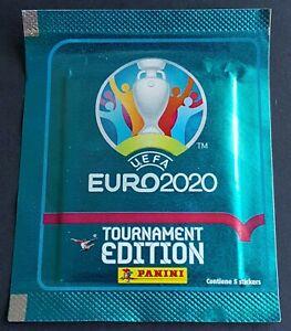 Panini UEFA EURO 2020 Tournament Ed. Blue Südamerika Tüte / Packet 5 stickers