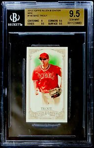 2012 TOPPS ALLEN & GINTER'S mini #140 MIKE TROUT ROOKIE BGS 9.5 GEM MINT ANGELS