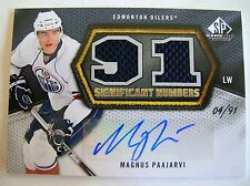 10-11 UD GAME USED SP SIGNIFICANT NUMBERS,MAGNUS PAAJARVI,C.SN-MP.(04/91),M/NM