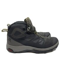 Salomon OUTline Mid GTX Gortex Hiking Shoes 404763 Men's Size 11.5 Black/Tan