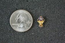 ELKS Club Lodge BPOE Membership Small Gold Tone Pin Pinback #19080