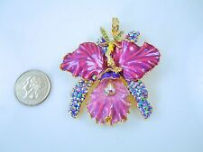 Kirks Folly African Queen Fairy Orchid Magnetic Enhancer  Goldtone