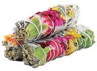 Joy Floral Sage Smudge Sticks with White Sage, Daisies & Carnations | Pack of 3