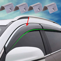 4pcs In Channel Wind/Rain Deflectors Fittings Replacement Car Rain Eyebrow Clips