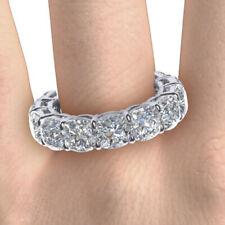 18K White Gold 3.50 Carat Round Diamond Wedding Bands For Women Size 5 6 7.5 8 9