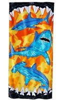 "NWT Jumping Beans Shark Beach Towel 58""x28"""