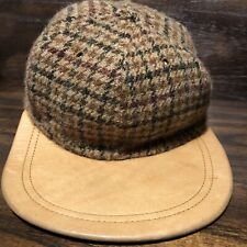 Vintage Polo Ralph Lauren Wool Hat Leather Trim EUC Newsboy