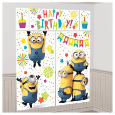 Despicable Me Minions Birthday Party Scene Setter Decoration Poster 6 Foot tall
