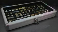 1 Wholesale Locking Aluminum Black Cufflinks Display Portable Storage Boxes Case